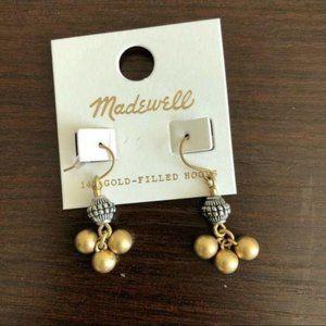 NWT madewell ball tassels earrings